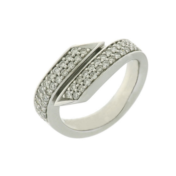 e5246514e837 Anillo oro blanco 18 ktes. y diamantes. Talla 13.